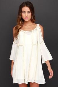 Do-Over Cream Crochet Dress at Lulus.com!