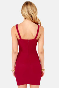 X Appeal Wine Red Bodycon Dress at Lulus.com!