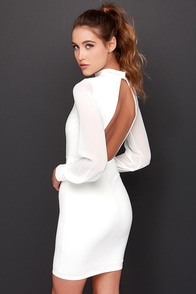 LULUS Exclusive Sleeve to Chance Ivory Long Sleeve Dress at Lulus.com!