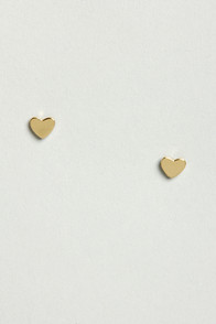 A Fresh Heart Gold Heart Earrings at Lulus.com!