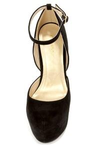 Shoe Republic LA Cameo Black Suede D'Orsay Platform Pumps at Lulus.com!