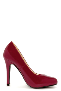 Anabell 1 Dark Red Patent Pumps at Lulus.com!