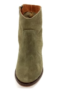 MTNG 90034 Molly Wax Olive Green Suede Ankle Boots at Lulus.com!