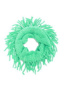 One-Knit Wonder Mint Green Infinity Scarf at Lulus.com!