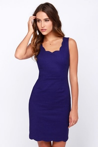Another Kiss Good Night Royal Blue Dress at Lulus.com!