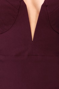 Rolling in the Deep V Burgundy Strapless Dress at Lulus.com!