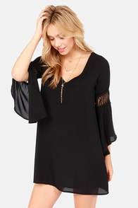 Tailor Maid Black Shift Dress at Lulus.com!