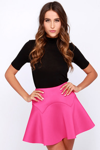 Lucca Couture Fire It Up Fuchsia Mini Skirt at Lulus.com!