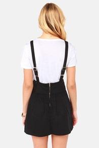 Suspender Splendor Black Suspender Skirt at Lulus.com!