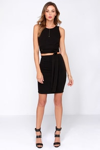 Daily Dos Black Two-Piece Dress at Lulus.com!