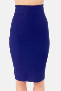 Perks of the Job Blue Pencil Skirt at Lulus.com!