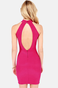 Va Va View Backless Magenta Dress at Lulus.com!