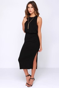 Moment of Truth Black Maxi Dress at Lulus.com!