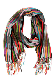 Candy Wrap Striped Pashmina Scarf at Lulus.com!