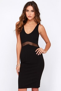 Living Carefree Black Bodycon Dress at Lulus.com!