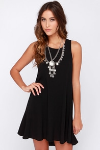 Chic Easy Black Swing Dress at Lulus.com!