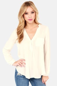 So Much in Love Cream Top at Lulus.com!