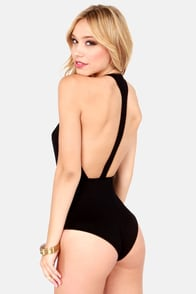 Hot Bod Black Bodysuit at Lulus.com!
