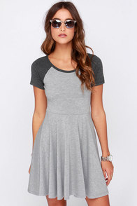 Others Follow Blossom Heather Grey Dress at Lulus.com!