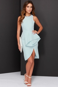 Cameo The Falling Light Blue Dress at Lulus.com!