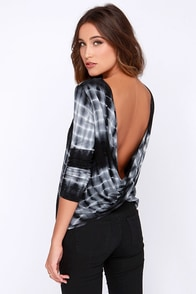 Only in Retro-spect Black Tie-Dye Top at Lulus.com!