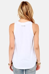 Billabong Catching Up White Muscle Tee at Lulus.com!