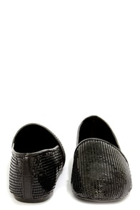 Steve Madden Gate Black Mesh Sequin Loafer Flats at Lulus.com!