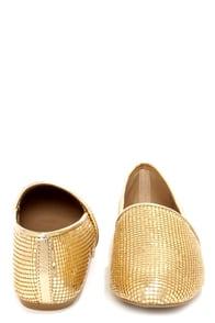 Steve Madden Gate Gold Mesh Sequin Loafer Flats at Lulus.com!
