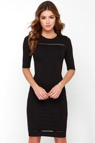 Recite Your Lines Black Bodycon Dress at Lulus.com!