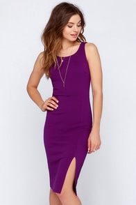 LULUS Exclusive Sweet Nothings Purple Midi Dress at Lulus.com!