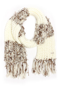 Billabong In Colorful Dreamz Taupe and Ivory Scarf at Lulus.com!