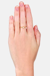 Your Pearliest Convenience Gold Pearl Ring at Lulus.com!