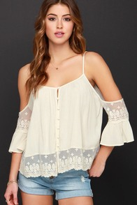 Howdy-Do Cream Lace Top at Lulus.com!