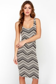 Tribal Print-cess Black and Cream Print Dress at Lulus.com!