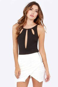 Loop Dreams Cutout Black Bodysuit at Lulus.com!