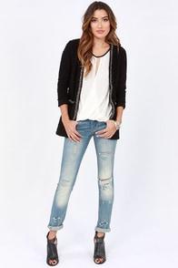 Boucle Up Black Cardigan Sweater at Lulus.com!