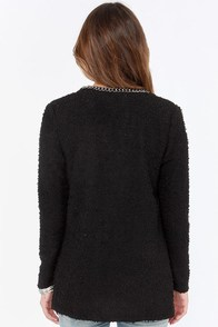 Boucle Up Black Cardigan Sweater at Lulus.com!