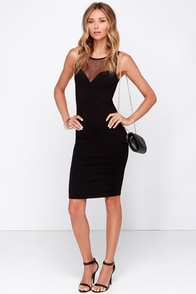 Forever Sweethearts Black Bodycon Dress at Lulus.com!