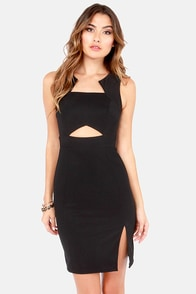 Elegant and Eligible Black Dress at Lulus.com!