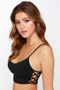 Subtle Hints Black Bra Top at Lulus.com!