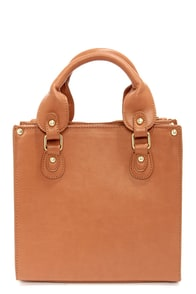 Steve Madden BBoxer Cognac Brown Satchel at Lulus.com!
