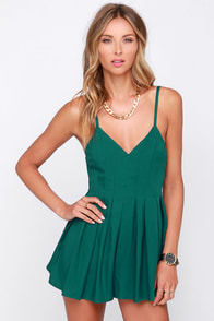 The Thought of You Teal Romper at Lulus.com!