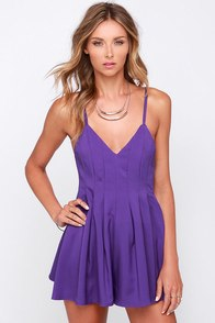The Thought of You Purple Romper at Lulus.com!
