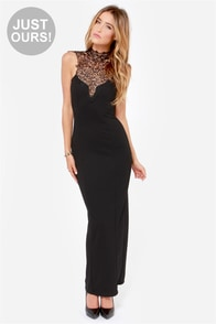 LULUS Exclusive In the Frill of the Night Black Maxi Dress