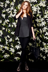Glamorous Weekend Seminar Black Blazer at Lulus.com!