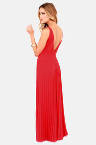 Accordion Player Backless Red Maxi Dress at Lulus.com!