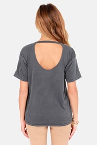 Obey Emporium Dusty Black Distressed Print Tee at Lulus.com!