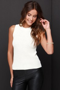 Olive & Oak Stay Awhile Knit Cream Top at Lulus.com!