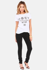 Obey 89 White Print Tee at Lulus.com!