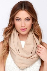 Layer She Goes Taupe Infinity Scarf at Lulus.com!